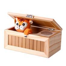 Boîte inutile électronique en bois mignon tigre drôle jouet cadeau pour garçon et enfants jouets interactifs réduction du Stress décoration de bureau
