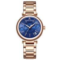 reef tigerrt luxury rose gold blue watch for ladies luxury creative watch waterproof women watch relogio feminino rga1591