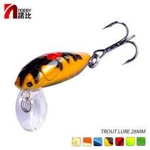 Noeby flottant bar brochet leurre Wobbler dur nageurs leurre artificiel 2.8cm 2g doré appât truite plastique appât de pêche