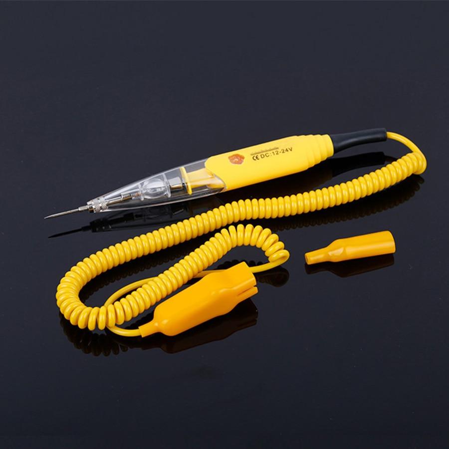 Универсальный автомобильный карандаш, ручка для обнаружения цепи, 12 В, 24 В, Автомобильный многофункциональный тестовый светильник, электро...