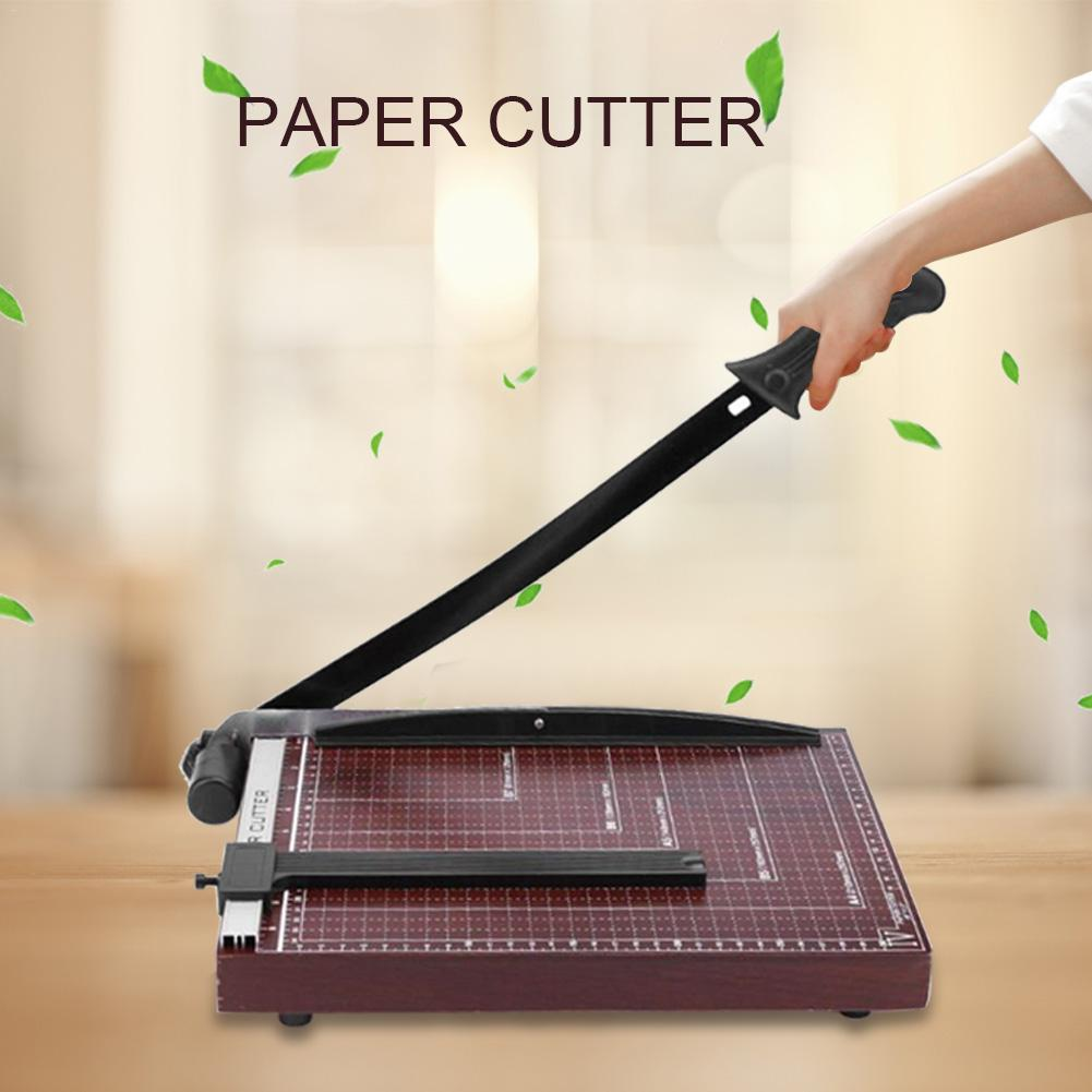Cortadora de papel Manual, cortadora de papel guía ajustable A4/B5/A5/B6/B7, herramienta de guillotina de foto incisiva, suministro de Oficina Económico