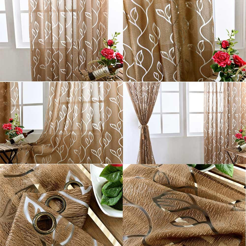 Estilo europeu semi-cortinas blackout cortinas da cozinha sala de estar janela cortina de sala de estar tecidos jacquard porta do painel