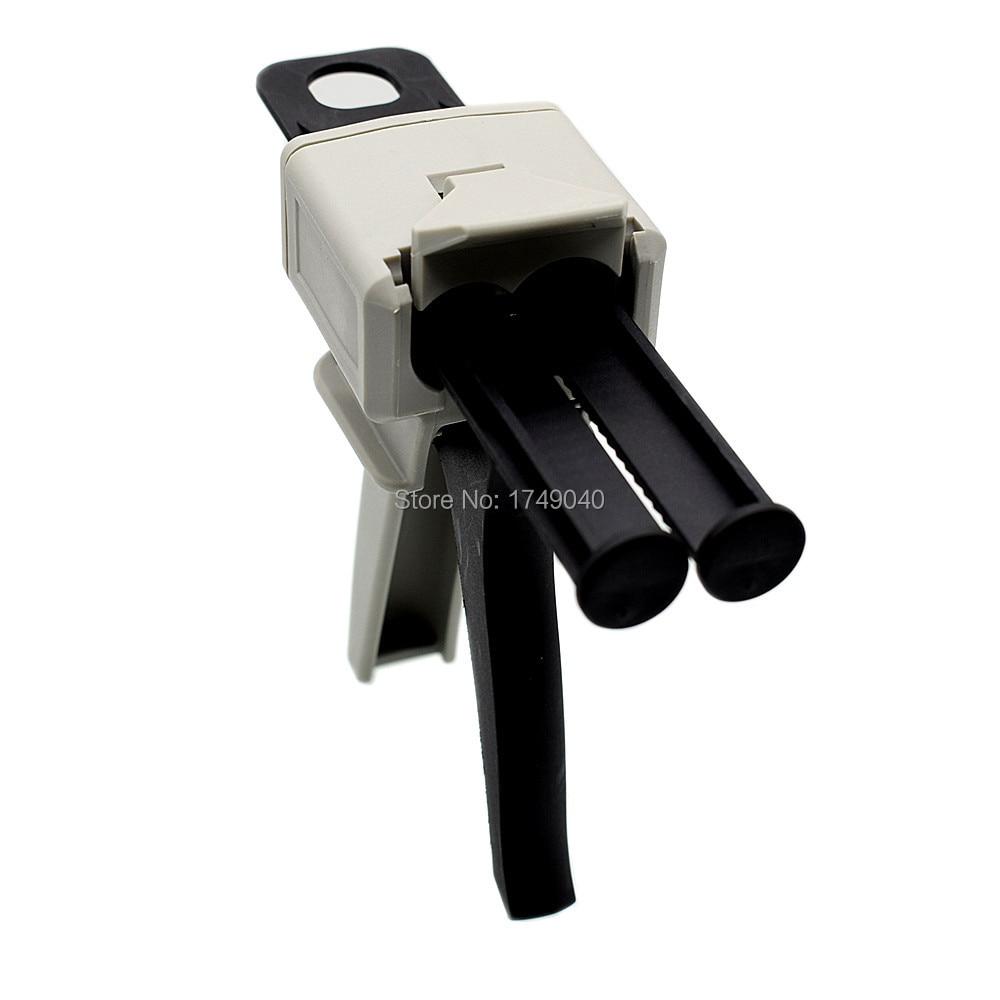 Klijų pistoletas 50 ml dviejų komponentų AB epoksidinio hermetiko aplikatoriaus klijų klijai išspausti mišrią 1: 1 rankinio užtaisymo pistoleto dozatorių