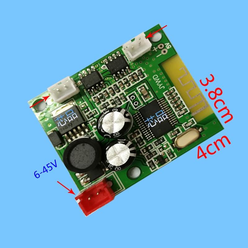 DYKB DC 6V-45V Bluetooth placa amplificadora de potencia 3W + 3W ESTÉREO audio AMP Módulo 12V 24V para silla de masaje giro coche equilibrio