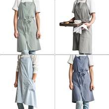 Tablier de cuisine dans la cuisine garder les vêtements propres sans manches pratique mâle femme Chef universel tablier Chef serveur tabliers outil