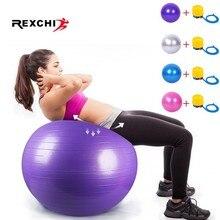 REXCHI Sports balles de Yoga Pilates Fitball balle dexercice pour salle de sport équipement déquilibre équipement dentraînement 55cm 65cm 75cm