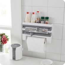 Distributeur de papier à Triple rouleau   Film accrochable en aluminium étain porte-serviettes support mural