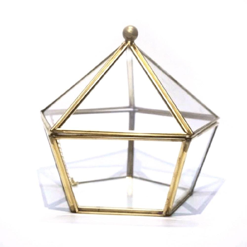 LUDA стекло свадебное кольцо коробка для хранения ювелирных изделий Свадебные Ювелирные изделия Чехол бессмертный цветок стеклянная крышка креативное украшение для дома