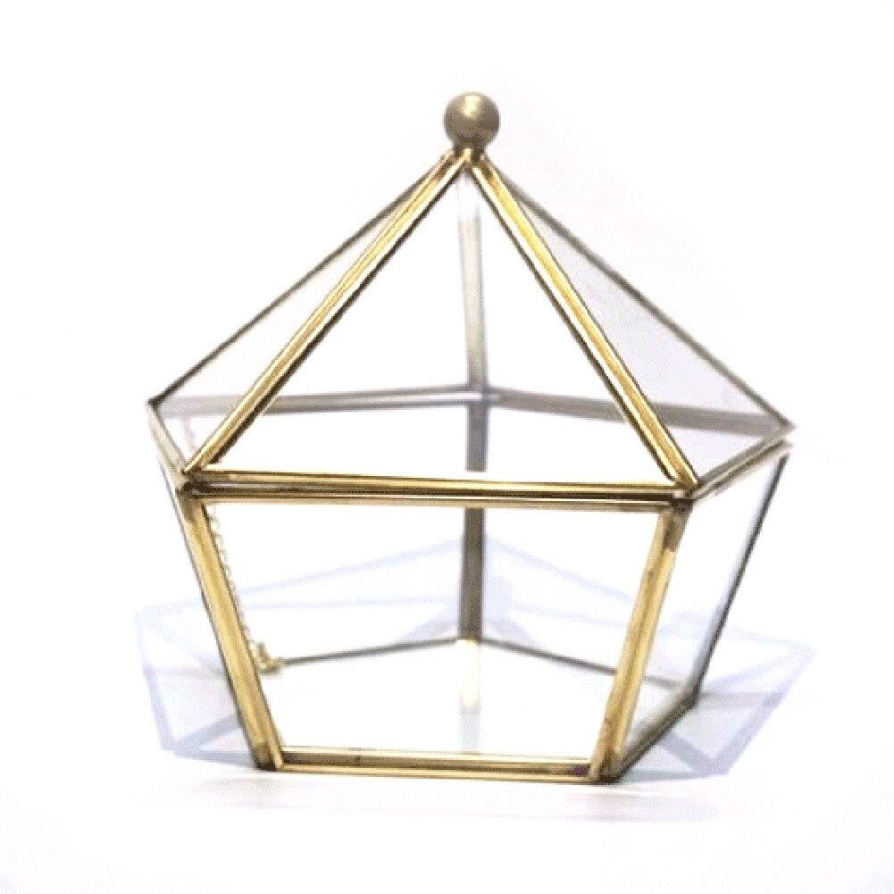 Luda vidro anel de casamento jóias caixa de armazenamento caso de jóias casamento flor imortal vidro capa criativa decoração para casa
