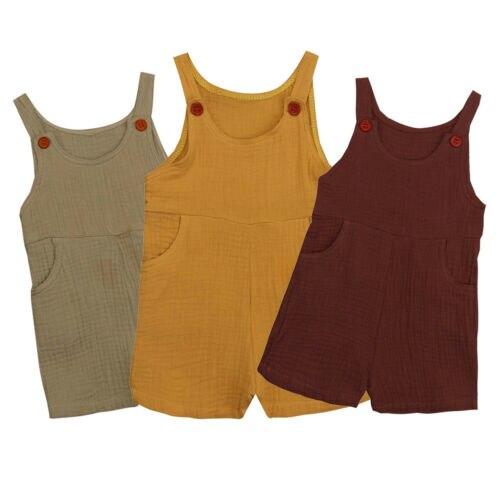 Pudcoco, traje de algodón sin mangas para niños y niñas