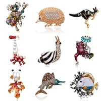 classic alloy enamel snails kangaroo brooch pins metal scarf animal pins christmas gift banquet weddings accessories for women