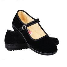 Printemps dames noir appartements ballerines Mary Janes décontracté femmes plate-forme chaussures confortables femmes chaussures sans lacet chaussures femme