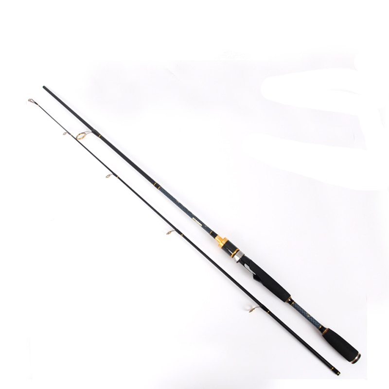 OLOEY caña de carbono para pesca dinámica M mano pesca señuelo Rod viajes de Rod Canne Spinnng