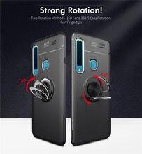 Pour Samsung Galaxy A9 2018 étui A920 support pour voiture support magnétique anneau de doigt Silicone étui en polyuréthane thermoplastique pour Samsung A9 2018 A920F