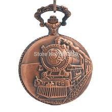 Montre De poche avec chaîne chemin De fer en relief chiffres arabes chasseur complet Steampunk Design Reloj De Bolsillo
