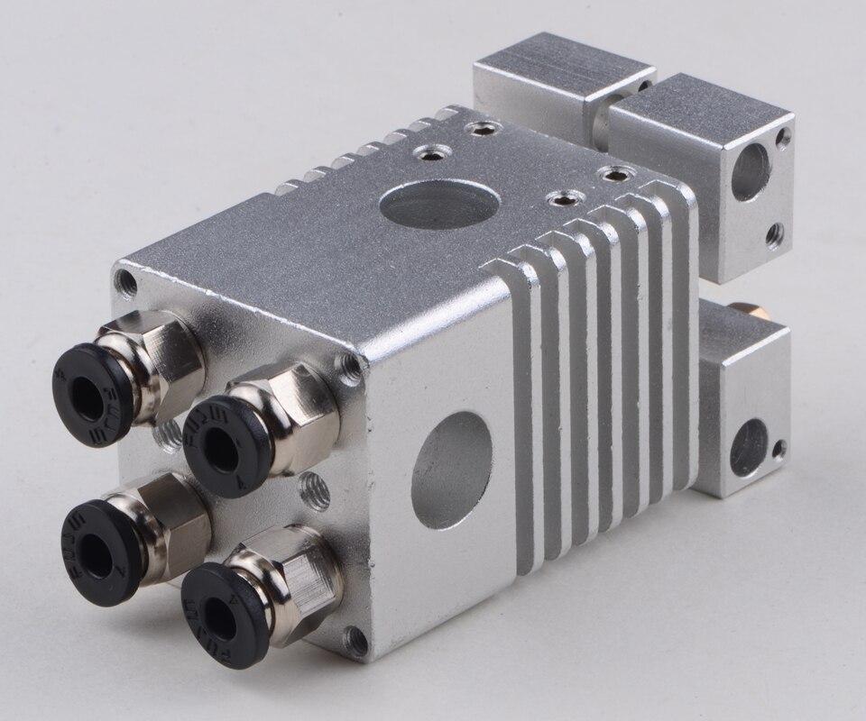 3D طابعة أجزاء Hotend الطارد فوهة كيت ل UM2 Ultimaker 2 عبر انزلاق الجدول سبائك التيتانيوم الحرارة كسر 1.75 مللي متر 3 مللي متر