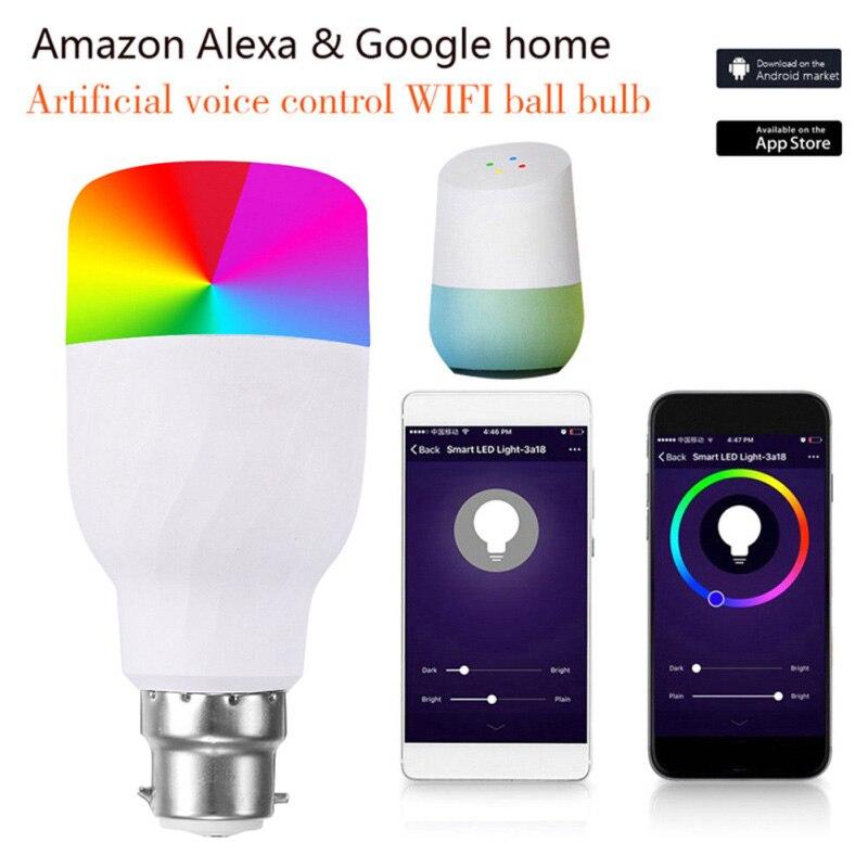 Bombilla LED con control de voz por WiFi RGB mágico de 11W E27 B22, Bombilla inteligente WiFi, compatible con Alexa lámpara de ahorro de Google, Dropship
