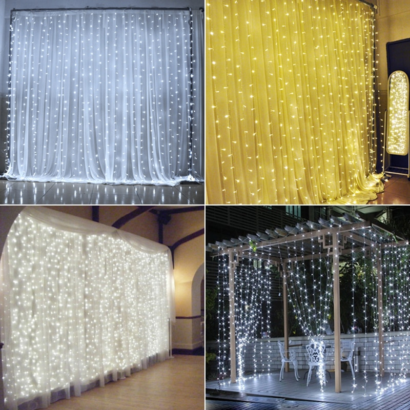 2*2m 400LEDs connectable LED curtain light watrproof IP46 christmas decoration wedding lights party decoration curtain lights
