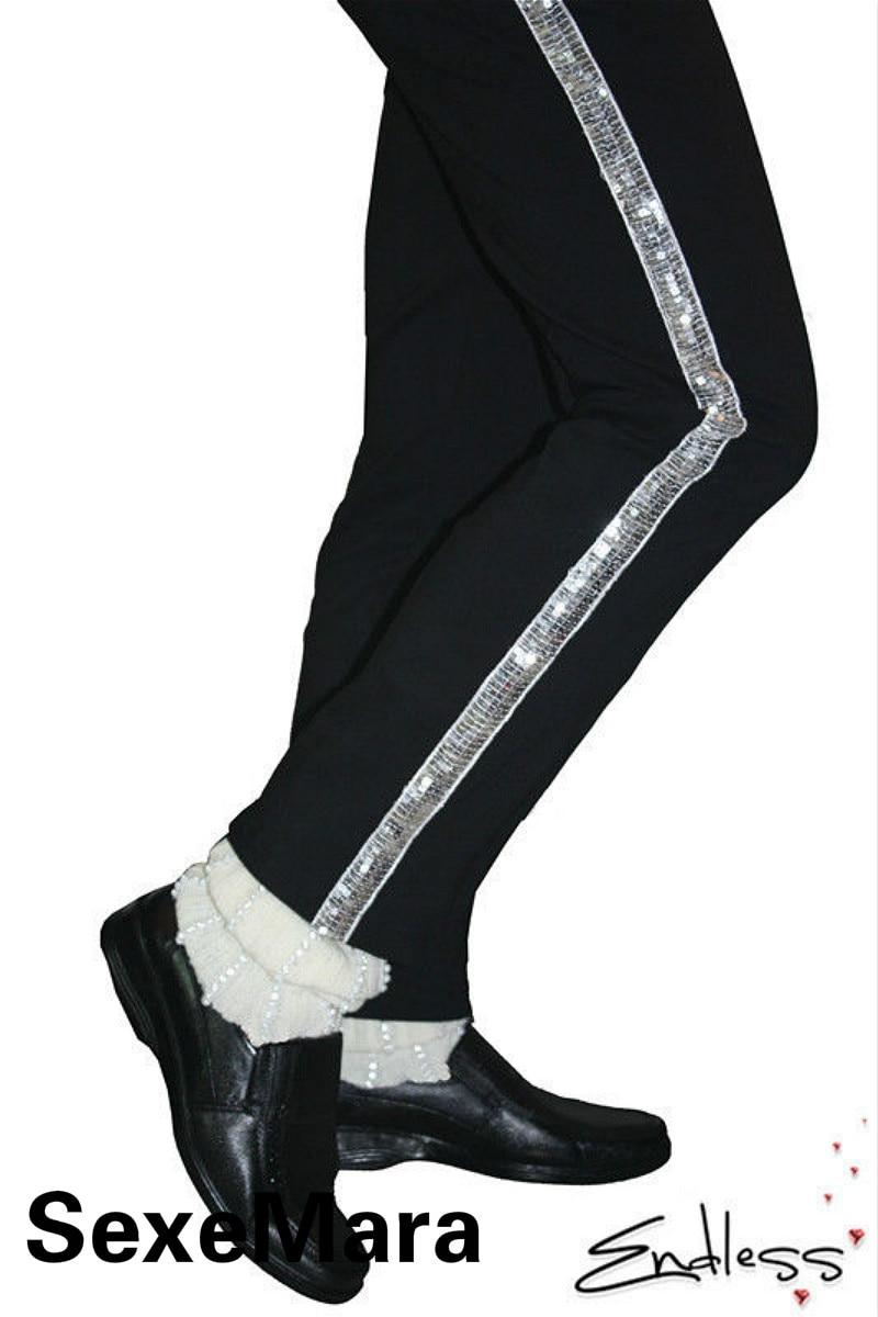 SexeMara Rare MJ Michael Jackson Classic Collection Moonwalk Dancing shoes Cover Handmade White Socks Party Hallowmas Gift