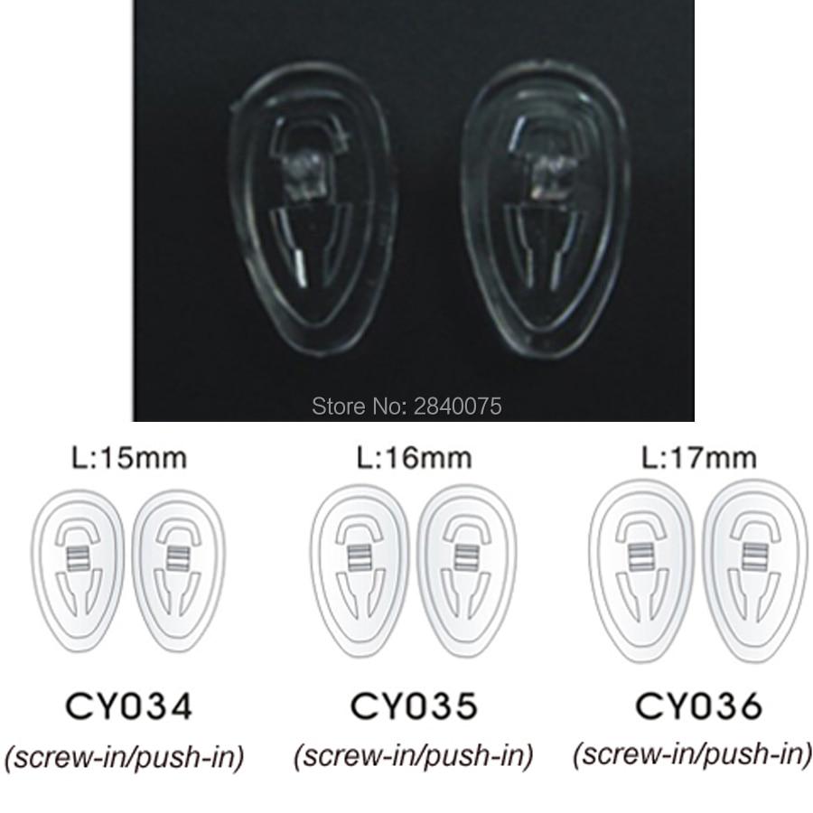 1000 أزواج (2000 قطعة) 15 مللي متر 16 مللي متر 17 مللي متر سيليكون دفع على مخدات أنف للنظارة إصلاح أداة ل نظارات