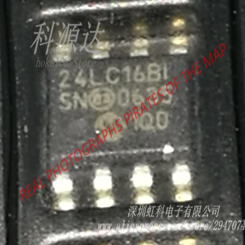 24lc16bt-i/sn 10 pçs/saco eeprom Serial-I2C 16k-bit 8 bloco x 256x8 3.3 v/5 v 8 pinos soic