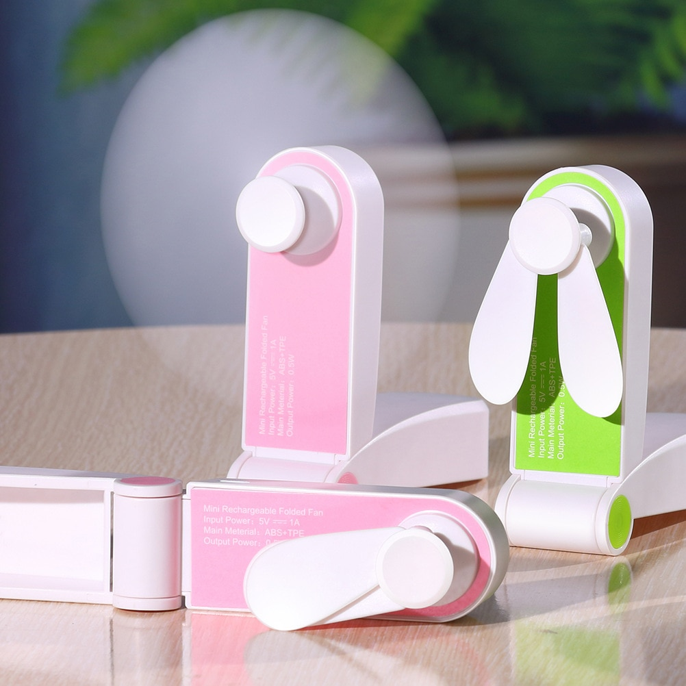 Usb Mini Fold Fan Electric Portable Hold Small Air Cooler Originality Charging Household Electrical