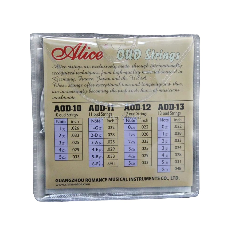 5 Sets Alice UD OUD Strings Clear Nylon Silver-Plated Copper Alloy Wound AOD11 enlarge