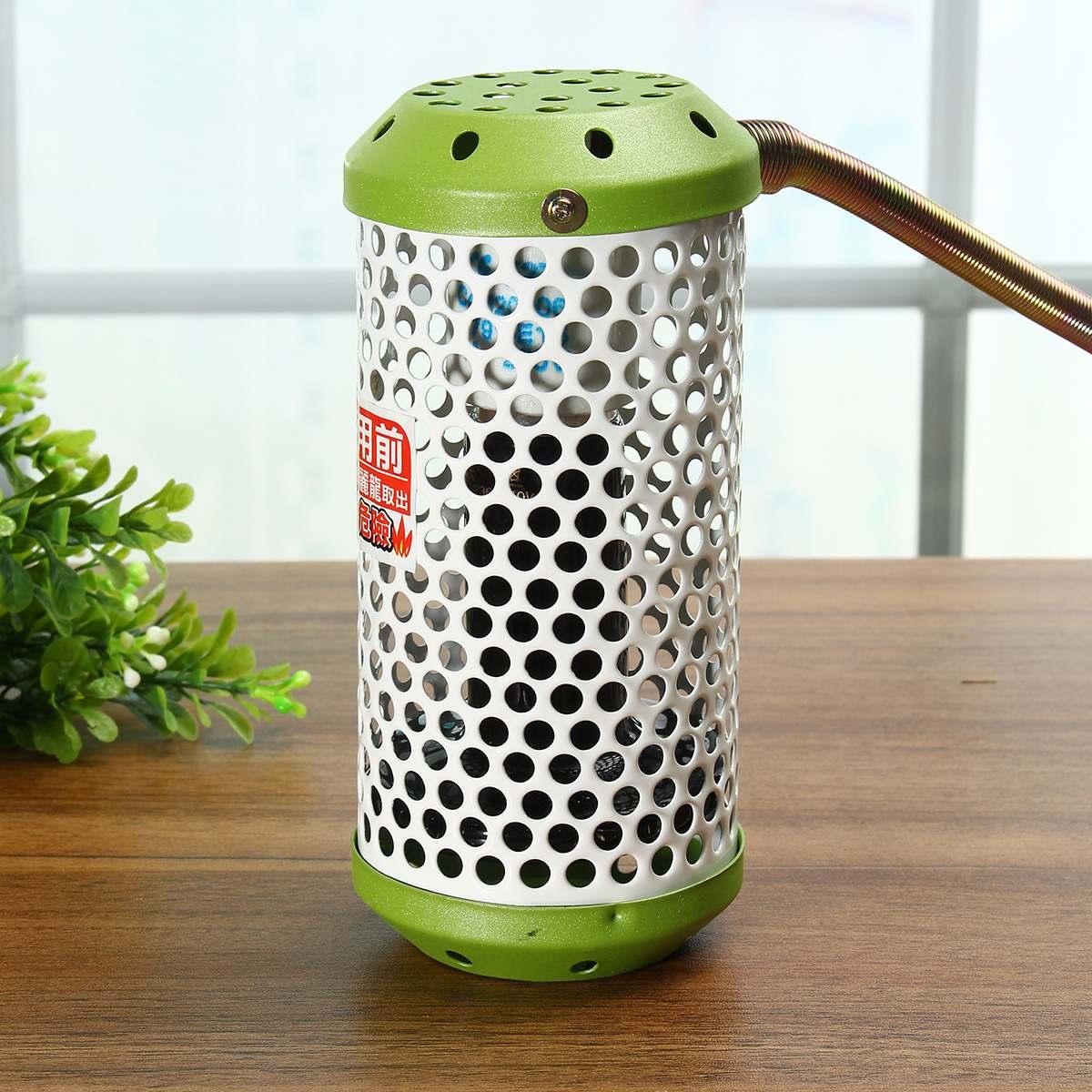 Lámpara de calefacción para mascotas de 20 W, luz de cerámica infrarroja con emisor de jaula de seguridad, lámpara de calor para mascotas, suministros de pollos, lámpara para reptiles de 110 v-230 V