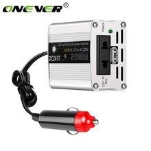 Conversor e inversor de energía para automóvil de 200W 12V CC a CA 220V adaptador USB para automóvil cargador de coche con estilo