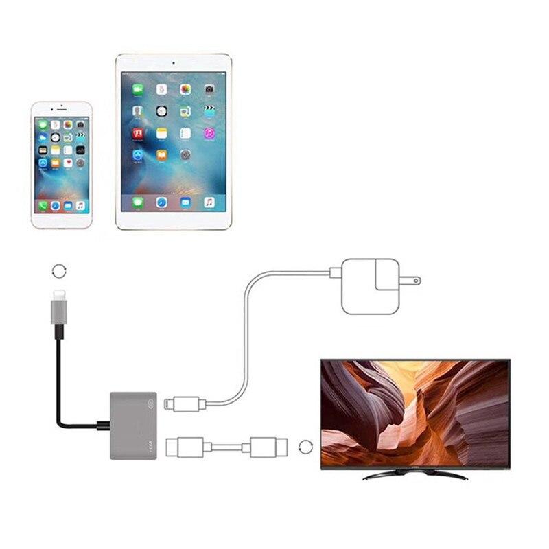 DOITOP 1080P HDMI Cable adaptador 8Pin a HDMI Cable para iPhone X de Apple 10 6 7 8 Plus para Apple TV HDTV Digital Cable adaptador AV