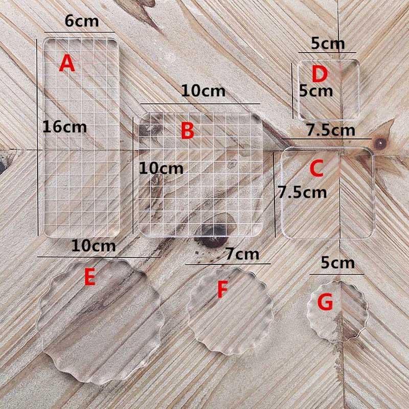 Акриловый блок высокой прозрачности для DIY, прозрачный блок печати для DIY скрапбукинга, прозрачный декоративный фотоальбом