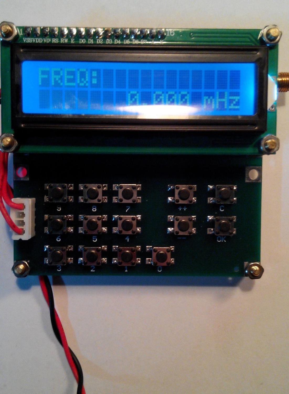 Gerador de sinal do oscilador da variável-frequência vfo da fonte de sinal de dykb adf4351 35mhz a 4000mhz display lcd digital