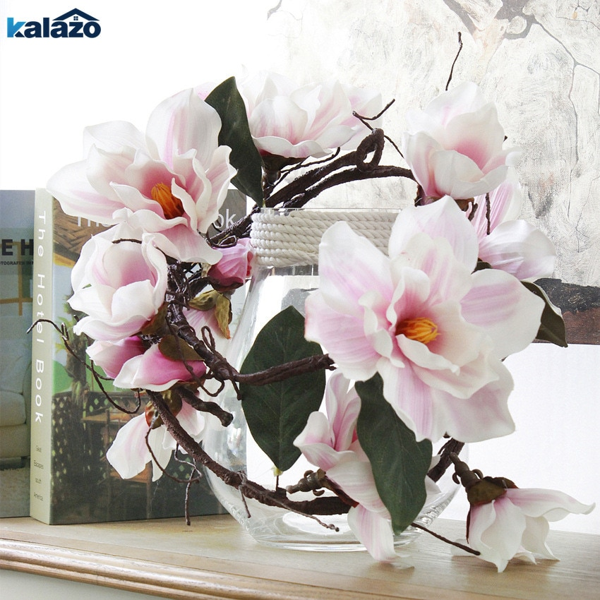 1pc 185cm Nylon langen stiel azaleen Magnolia Künstliche blume zweige willkürliche biege gefälschte blume hochzeit home dekorationen