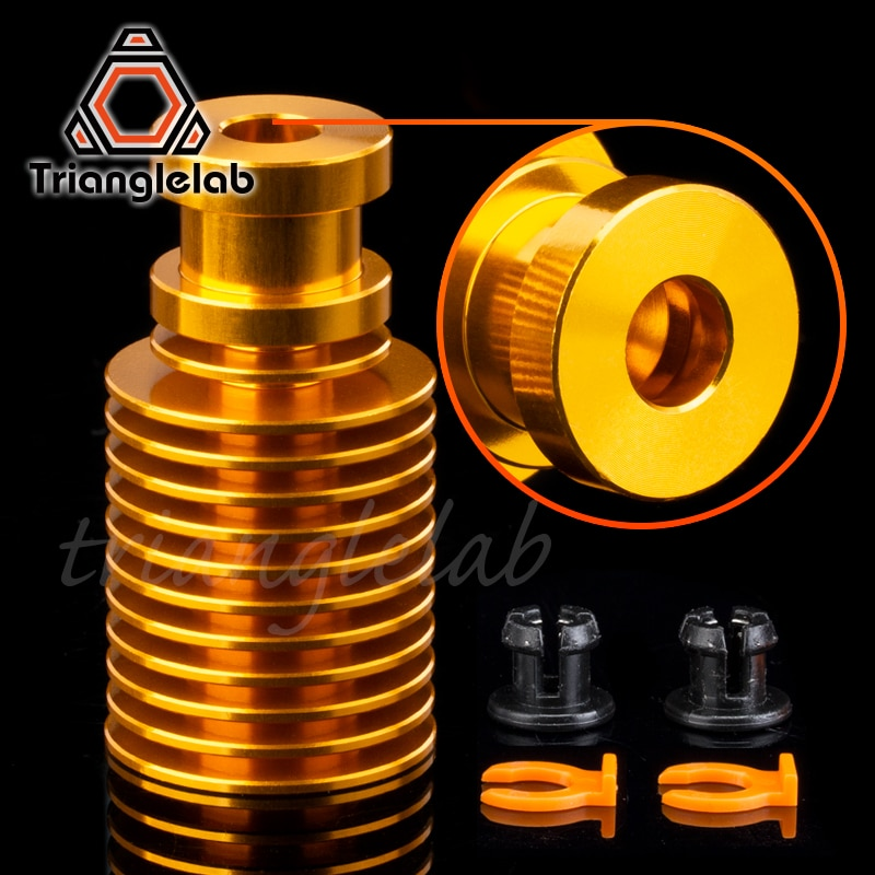 AliExpress - V6 Gold Heatsink For Gold Hotend Radiator Remote 1.75MM Direct & Bowden For Feeding 3D Printer Titan Extruder AQUA