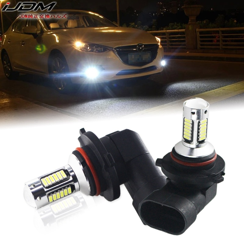 iJDM H11 H8 H16 LED Car Fog Bulbs HB3/9005 9006/HB4 H27 880 881 H3 H1 High Power H7 LED Cars White R