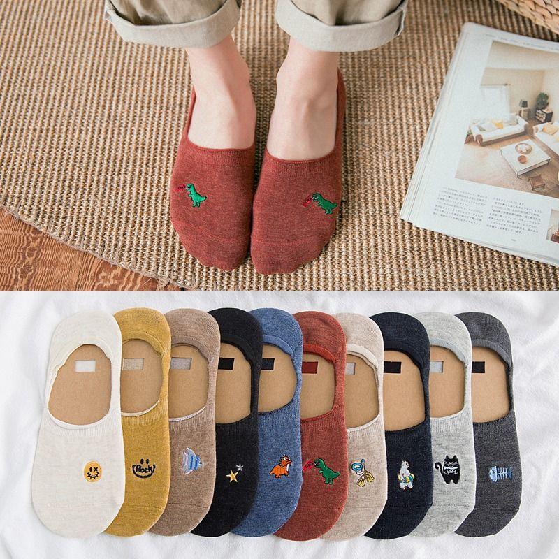 2020  2pairs/SET Summer Thin Cool Animals Women Boat Socks  Cotton Cartoon Cute Kawaii Socks for Girls Female Funny Socks