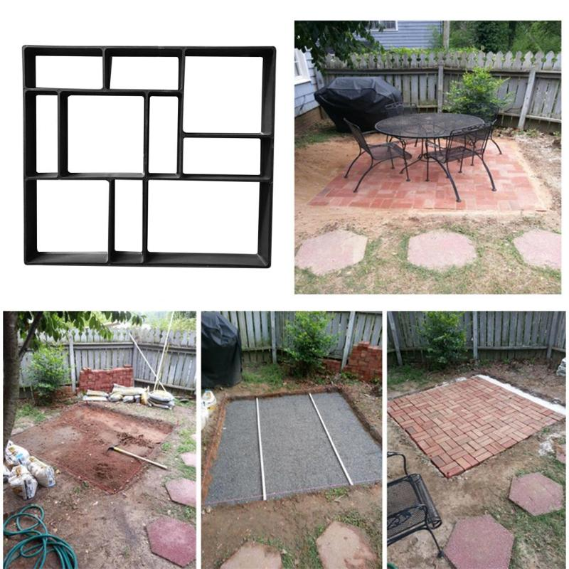 DIY Paving Cement Brick Stone Road Concrete Mould Garden Path Maker Mold Household Gardenging Road M