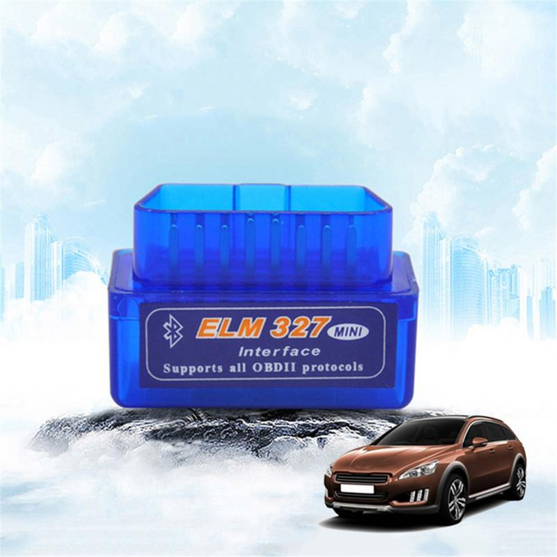Super Mini ELM327 V2.1 OBD2 II equipos de diagnóstico automático de Bluetooth escáner portátil de coche ELM 327 probador herramienta de diagnóstico