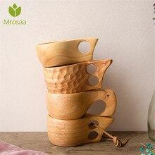 Chinese Wood Coffee Mug Wooden Portable Drinkware Drinking Mug Tea Milk Cup Water Drinking Mugs Handmade Juice Lemon Teacup Gift