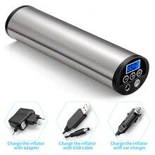 3 충전기와 자동차 팽창기 펌프 LED 라이트 미니 전기 150psi 타이어 압력 게이지 자전거 타이어 풍선 펌프 공기 압축기 USB