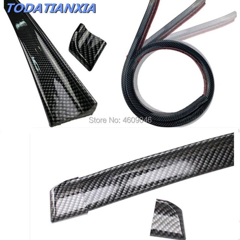 Auto Spoiler de fibra de carbono para audi tt nissan juke toyota avensis peugeot 5008 renault clio 4 mini cooper r56 golf mk7 kia ceed