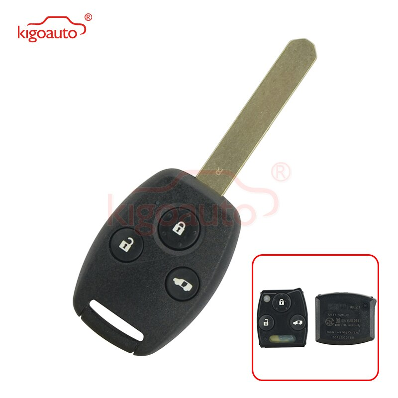 Kigoauto 72147-SZW-J0 Remote key 3 button for Honda 313.8mhz