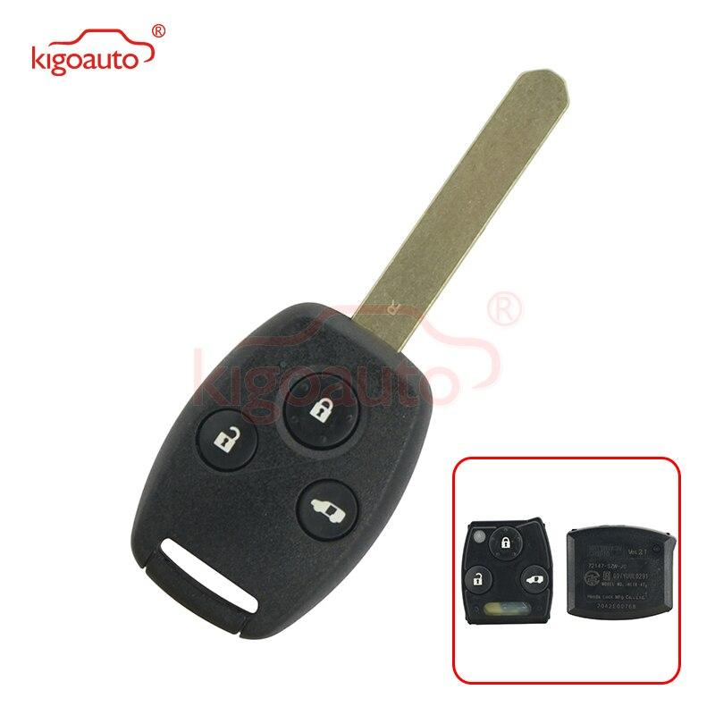 Kigoauto 72147 SZW J0 дистанционный ключ 3 кнопки для Honda 313,8 mhz Ключ от авто      АлиЭкспресс