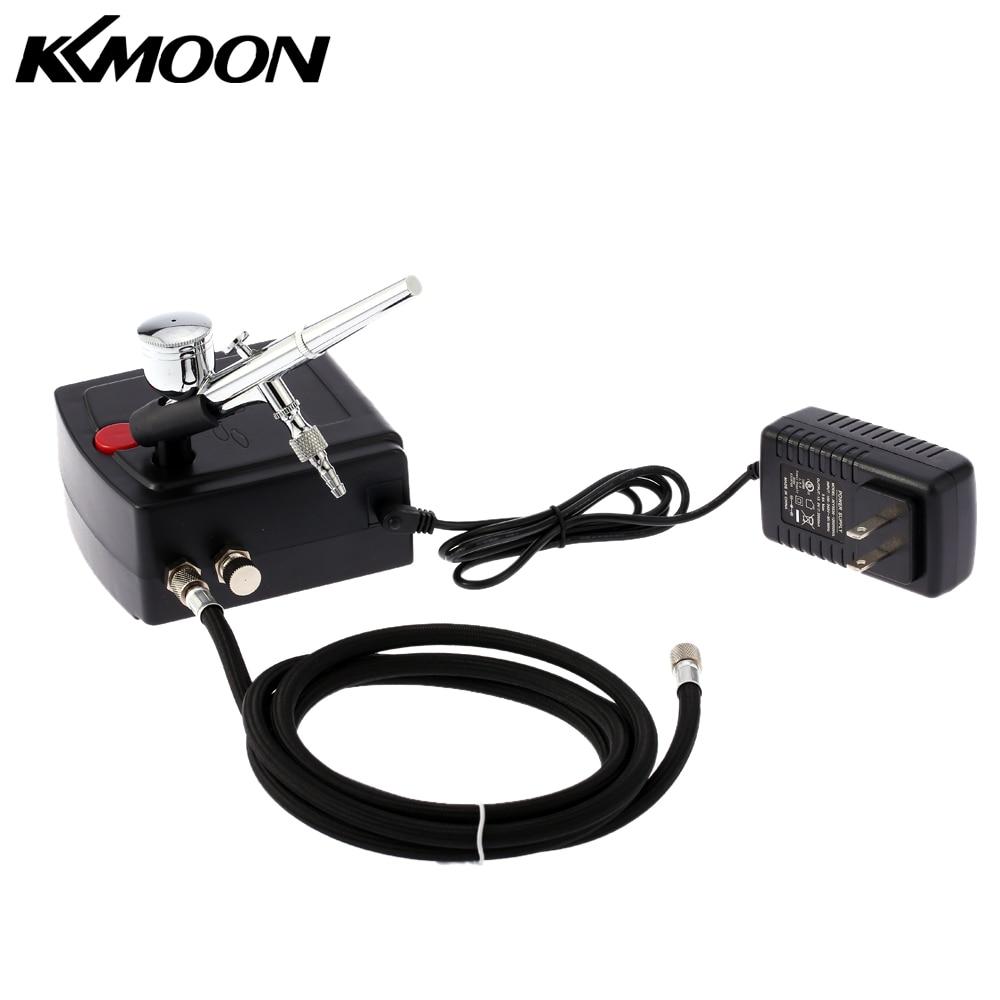 KKmoon 100-240V Aerógrafo Compresor Profesional Juego de compresor de Aire de краскопульт...