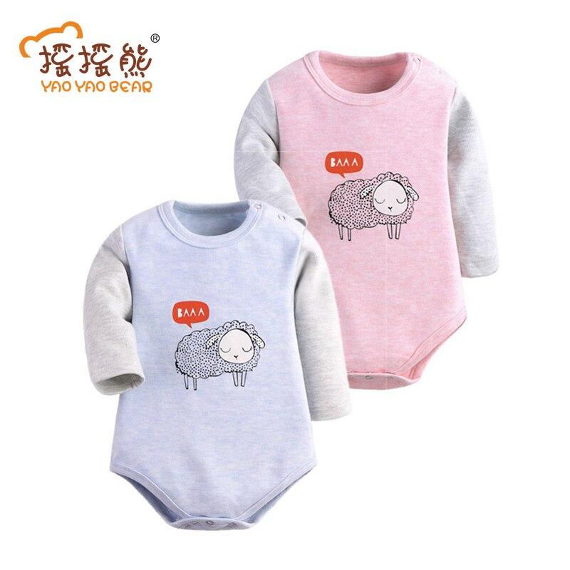 Baby Girl Bodysuit 2Piece/lots Spring Autumn Newborn Body Baby 100% Cotton Long Sleeve Underwear Infant Boy Pajamas Clothes 2019