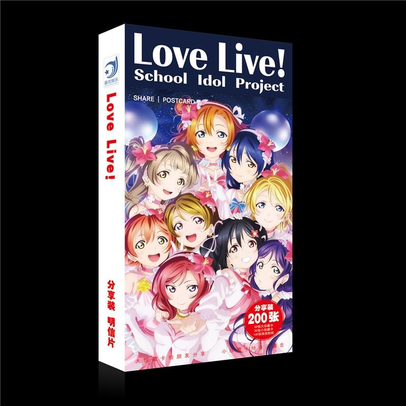 ¡180 unids/set Anime Love Live postal de juguete LoveLive! Tarjeta de felicitación School idol project para pegatina mágica de tarjeta de papel de regalo