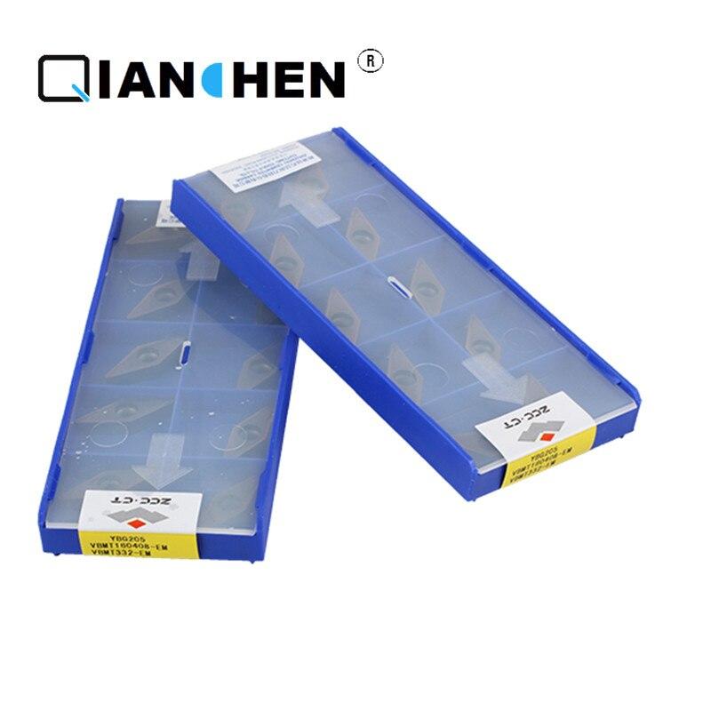 Original ZCCCT 10pcs  high quality high performance high strength CNC industry VBMT160408-EM YBG205 carbide inserts