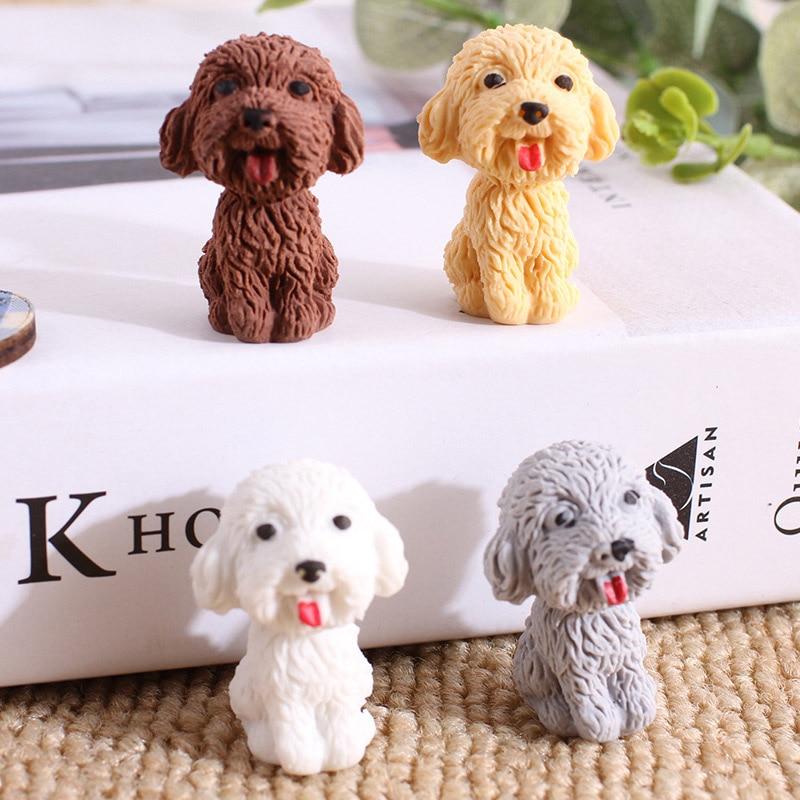 Kawaii כלב עיפרון מחק חמוד Cartoon טדי גומי מחק לילדים בנות מתנות חידוש כתיבה ספר ספקי תיקון