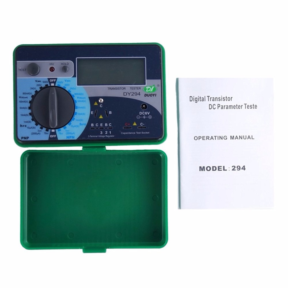 Duoyi dy294 digital multifunction semicondutor tester transistor 1000 v capacitor de medição de tensão de capacitância reversa scr fet