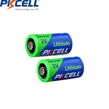 2 PIÈCES PKCELL CR123A 3V Lithium Li-MnO2 Batterie CR123 123A CR17345 KL23a VL123A DL123A 5018LC EL123AP Pour LAMPE DE POCHE LED